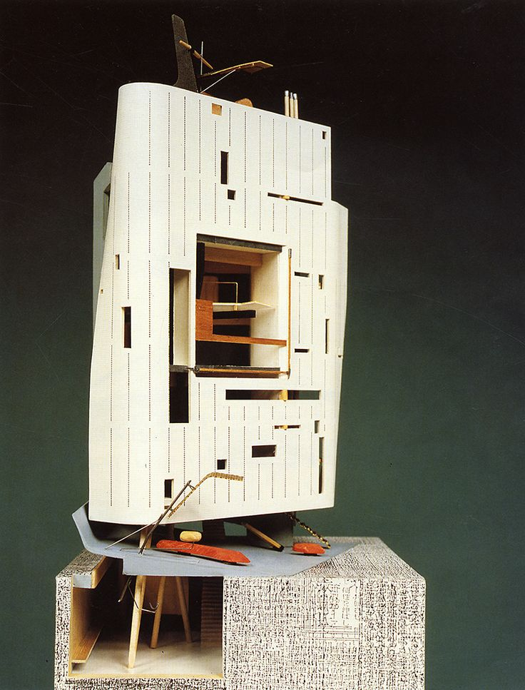 cosmos commercial building - bolles wilson -   aa files 20 - autumn 1990: 65 - model