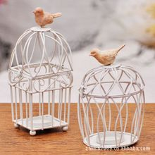 2 варианта цвета 1 шт. Farol старинные домашнего декора чай свет металл клетки птиц для свадьбы канделябр канделябр свеча стенд держатель tealight(China (Mainland))