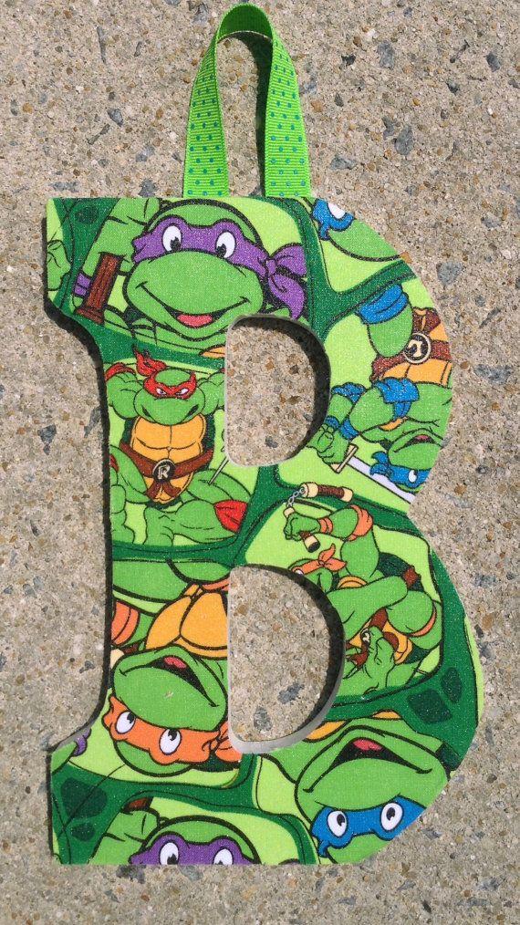 Ninja Turtles Inspired Wooden Letters por OriginalsbyBee en Etsy
