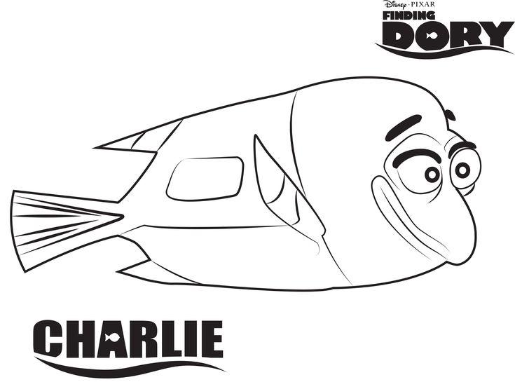 Finding Dory Kleurplaten Charlie