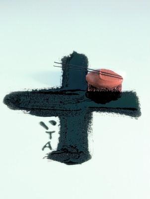 Ferran Adria homage to Catalan artist Tapiès.