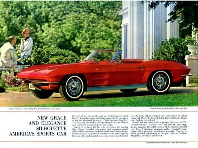Peter Bouchard   1963 Chevy Corvette - America's Sportscar by Peter Bouchard via slideshare  http://www.peterbouchardmaine.com/