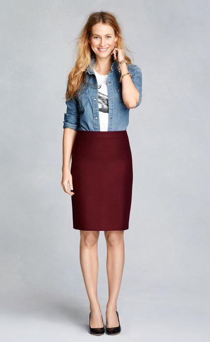 17 Best ideas about Maroon Skirt on Pinterest | Maroon skirt ...