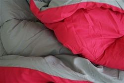 Gray/Pink Reversible College Comforter - Twin XL
