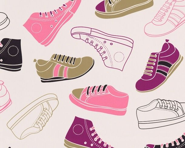 eurowalls super cute shoes wallpaper from our Boys & Girls 4 2015 collection.