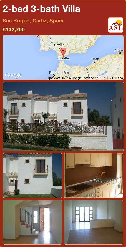 2-bed 3-bath Villa in San Roque, Cadíz, Spain ►€132,700 #PropertyForSaleInSpain