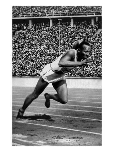 Jesse Owens Setting the 200 Meter Olympic Record at the Olympics in Berlin, Germany, 1936 Photo at AllPosters.com