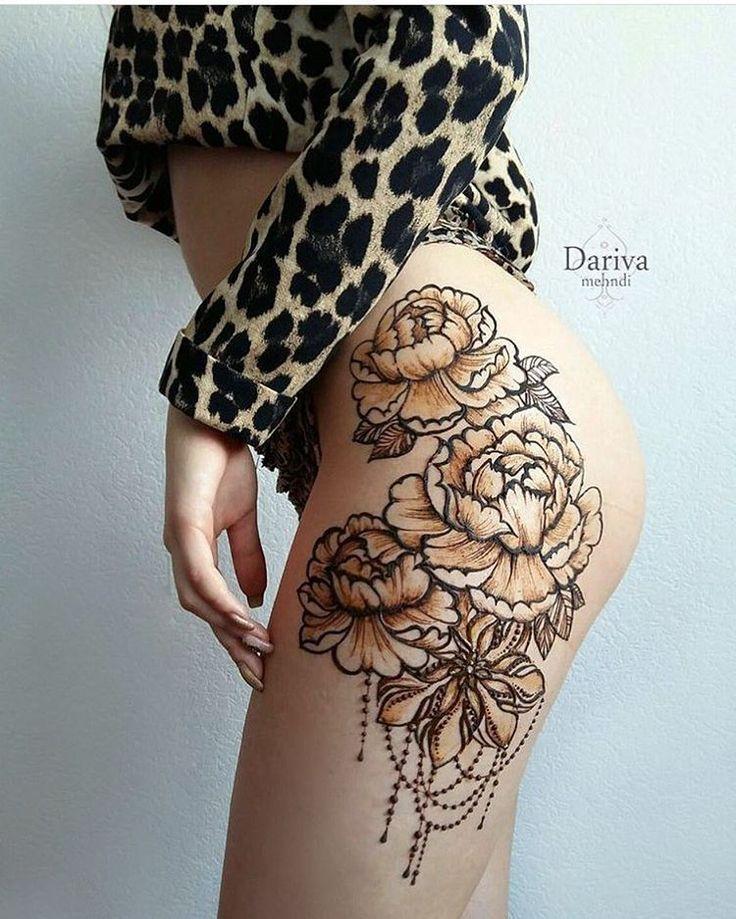 Henna Thigh Tattoo Ideas: Image Result For Thigh Henna