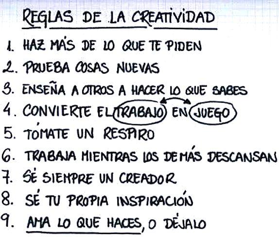 〽️ Reglas de Creatividad...