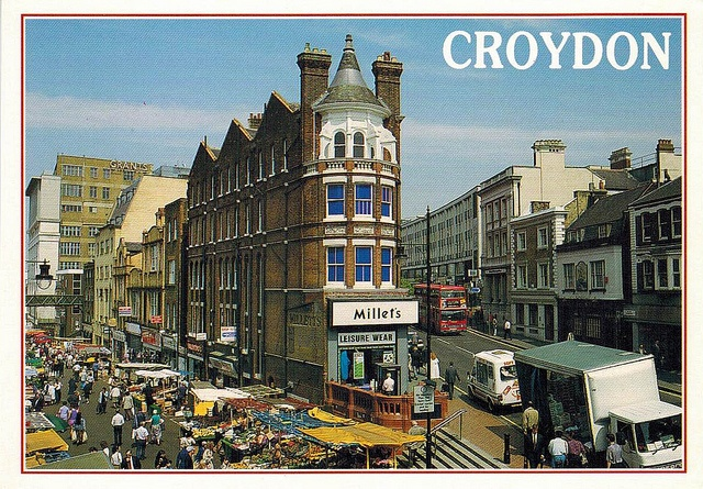 Surrey Street, Croydon UK by col underhill, via Flickr. Love this photo and the angle they've gotten so that both Surrey Street and High Street.
