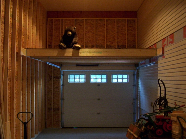 Over door mezzanine garage organization pinterest for How to build a mezzanine floor in a garage