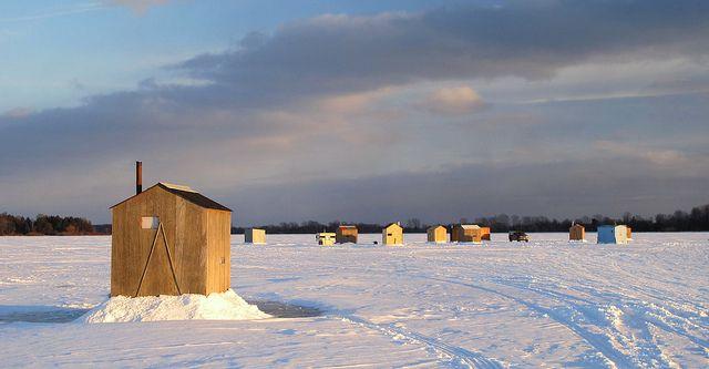Ice fishing huts in minnesota ya gotta try it once i for Minnesota ice fishing