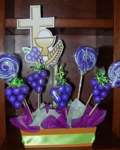 centros de mesa primera comunion con globos | Centro de mesa primera comunión!