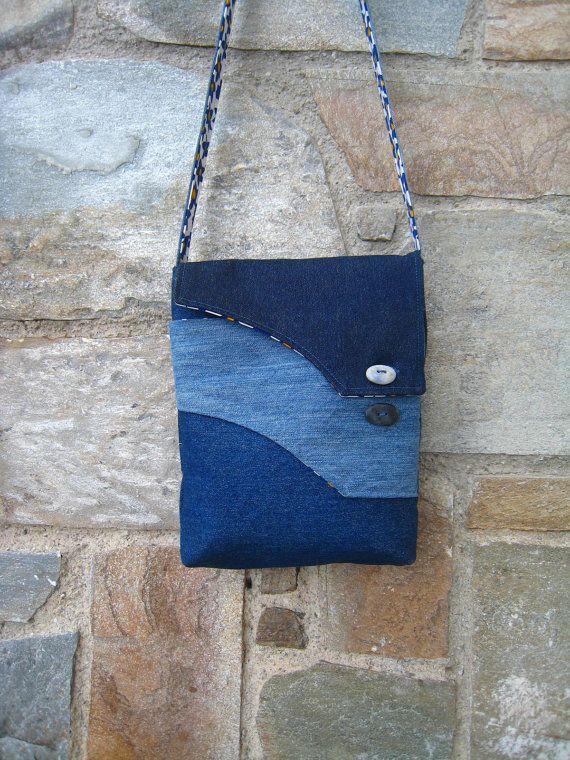 Jean messenger crossbody bag by ZayiaCraft on Etsy