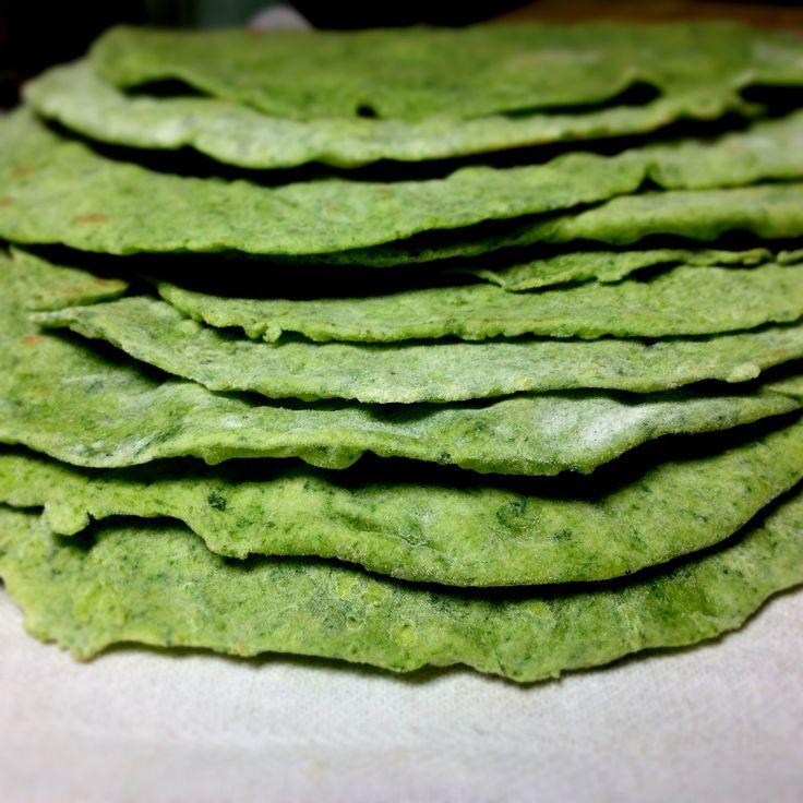 Spinach flatbread. Replace flour with quinoa/ bean flour or buckwheat flour