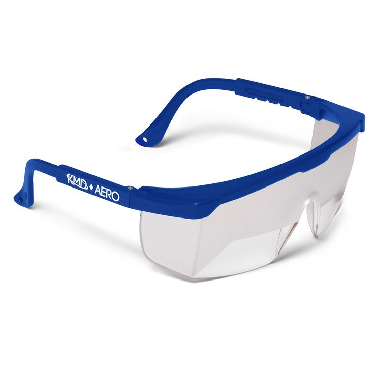 Aviation Flight Training Glasses - IFR Certified View Limiting Device for Pilot Training & Simulation of Instrument Meteorological Conditions - Frosted Adjustable Polycarbonate Frames (1, Blue)
