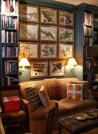 The library, based on the architecture of Sir John Soane, also serves as a guest bedroom.