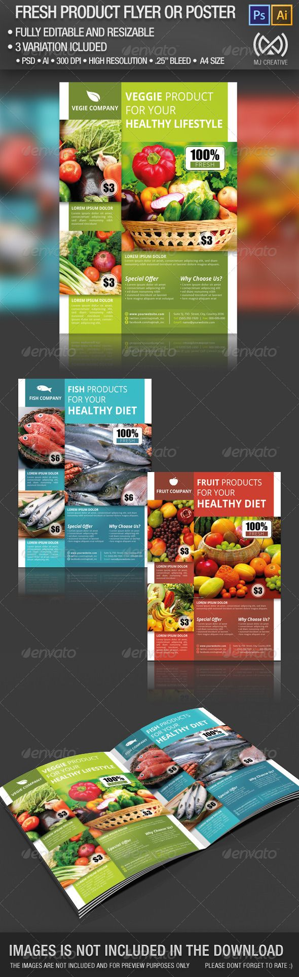 Fresh Product Flyer & Poster Get the template here http://graphicriver.net/item/fresh-product-flyer-poster/4484935?ref=MJCreative