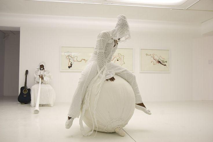 Nicholas Hlobo, South Africa - Amaqanda'am, 2007. Isitshaba 80x80x100 Cm, Costume 188x165 Cm