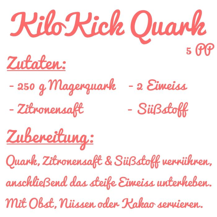 Abnehm Tipp: Kilo Kick Quark | Fashion Kitchen | Bloglovin'