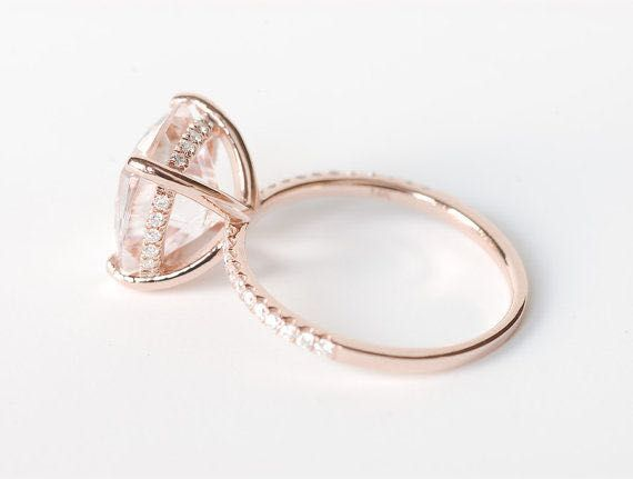 What is Morganite? Find the meaning, stunning rose gold morganite rings and unique Morganite Engagement Ring inspirations for your perfect engagement. - www.ringtoperfection.com/morganite-engagement-ring-inspirations/