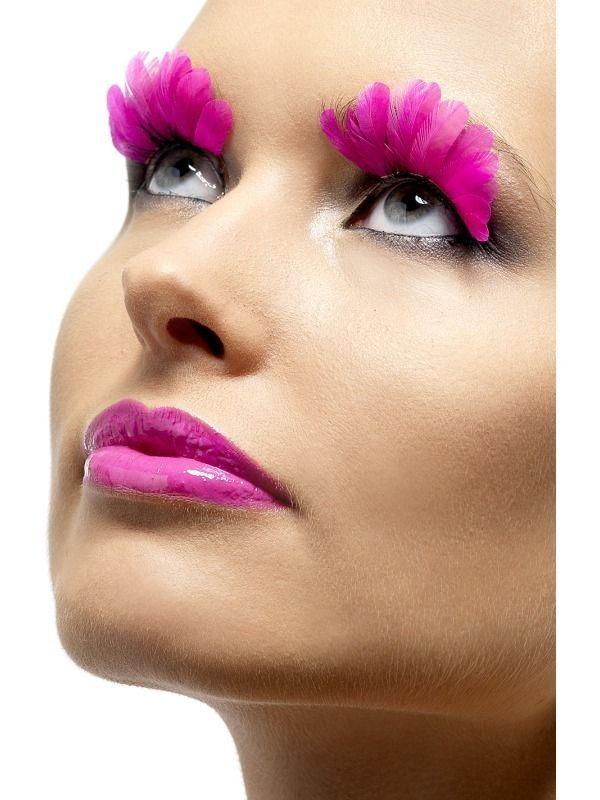 ec18f80d7bd Neon Pink Feather False Eyelashes #EyelashExtensionsStyles | Eyelash ...