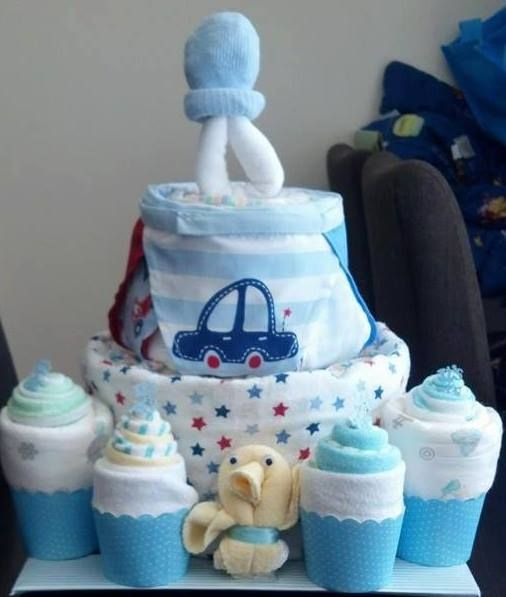 3 tiered nappy cake