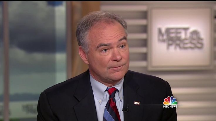Senator Tim Kaine (D-VA) acknowledges his personal opposition to abortion but says he believes in the right to choose in an interview on Meet the Press.