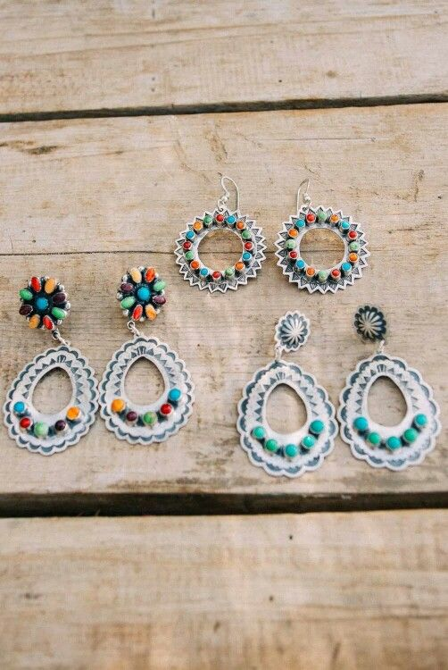 Don Lucas jewelry.. Love the turquoise ones!