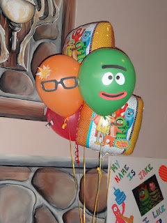 Yo Gabba Gabba Birthday Party - balloons