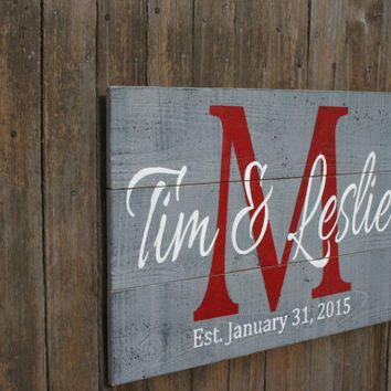 Pallet Sign Personalized Name Sign Custom Name Sign Wedding G... More