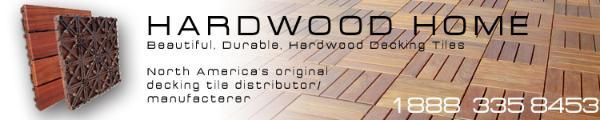 Deck tiles and wood decking tiles by HardwoodHome, Outdoor Floor Superstore
