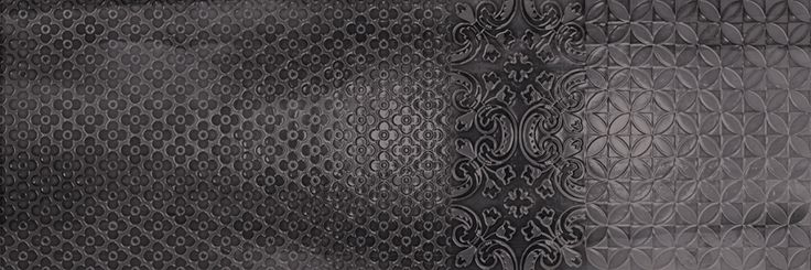 Murale Nero 25x75 cm. Wall tiles | Aquarelle series | Arcana Tiles | Arcana Ceramica | revestimiento