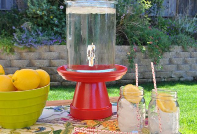 DIY Drink Dispenser Stand | 20 Drink Dispensers and Pitchers for Your Next Party