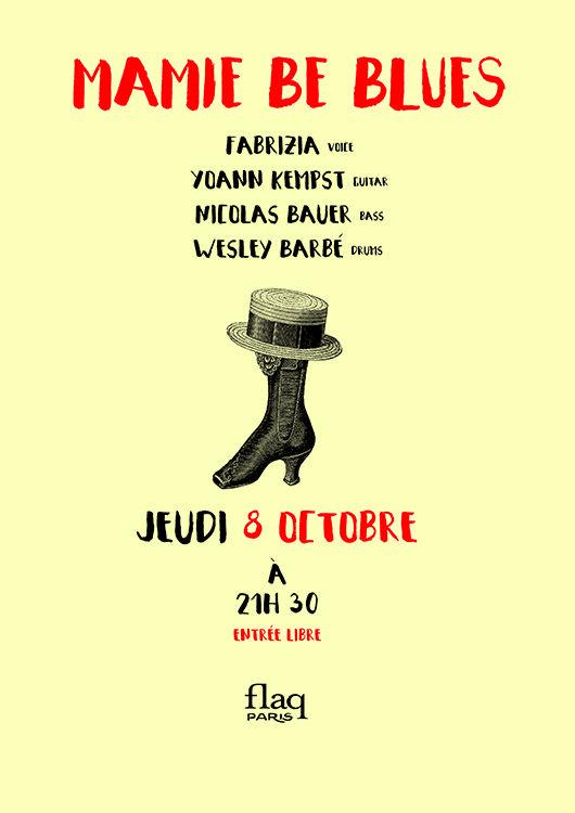 """La Flaq réouvre sa saison musicale avec un concert du quartet """"MAMIE BE BLUES""""  pour une soirée aux accents Jazz, Blues et Bossa."""
