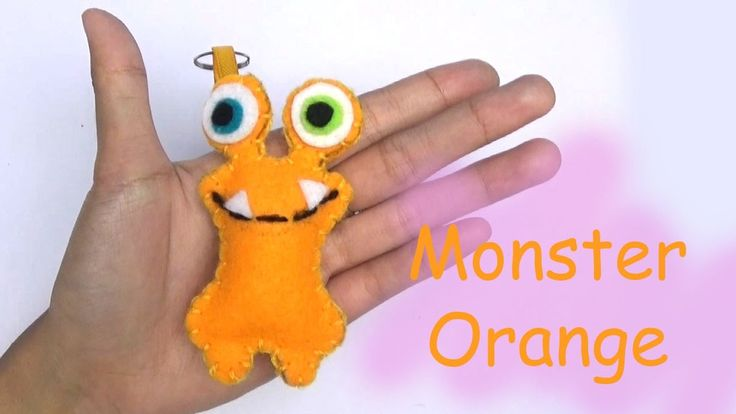 Monster Friends Orange Craft For Kids - Easy Craft Handmade - Nursery Rh...