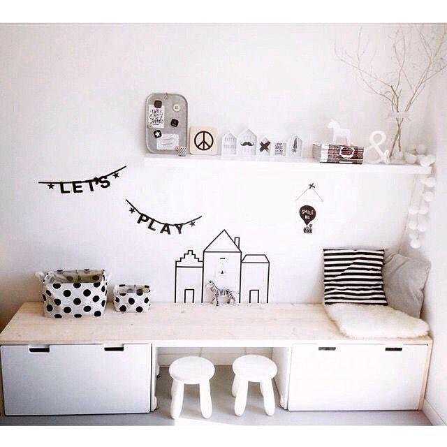 Ikea hack: Stuva desk credit: @huisnummer8 #kids #kidsroom #kidsdesk #ikea…                                                                                                                                                                                 More
