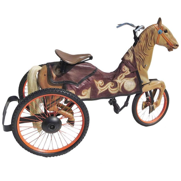 Adult Size, Carnival Horse Racing Bike | From a unique collection of antique and modern carnival art at http://www.1stdibs.com/furniture/folk-art/carnival-art/
