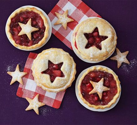 Cranberry & pear pies. These cute and festive pies make a good warm dessert or a tangy alternative to mince pies.
