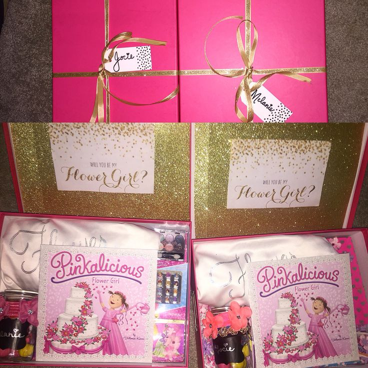 diy will you be my flower girl gift box Gifts for