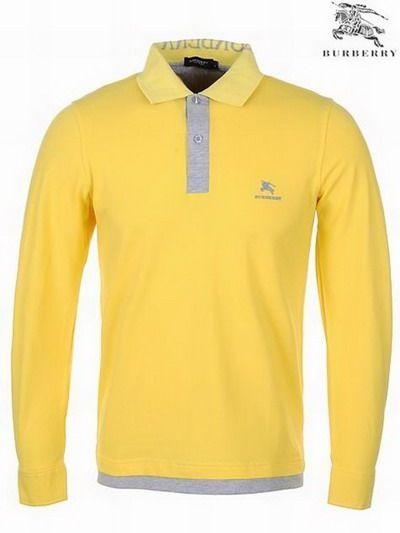 ralph lauren outlet uk Burberry Pique Cotton Long Sleeve Men's Polo Shirt Yellow http://www.poloshirtoutlet.us/