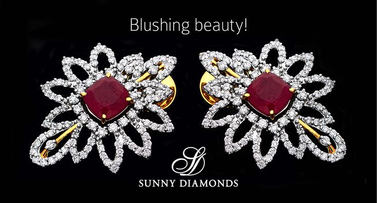 Glory in red! A pair of regal looking diamond & ruby earrings from our collection. #diamonds #rubies #jewellery #earring