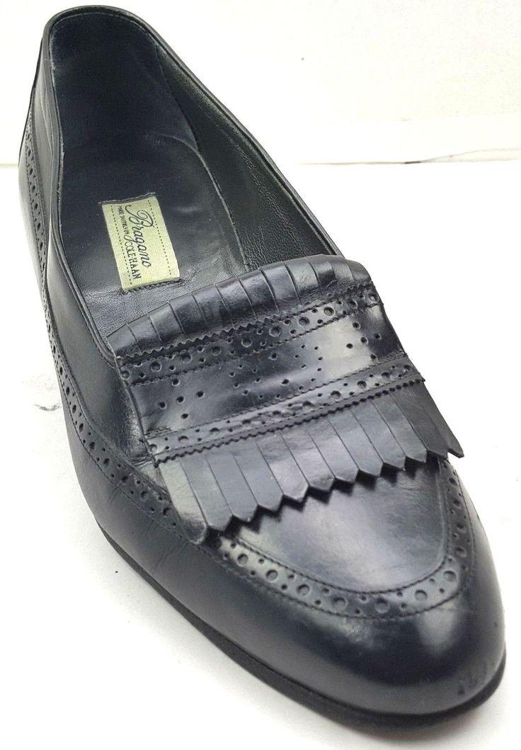 Men's Shoes Vintage Bragano Cole Haan Black Leather Kilt Loafers 8M Italy | eBay