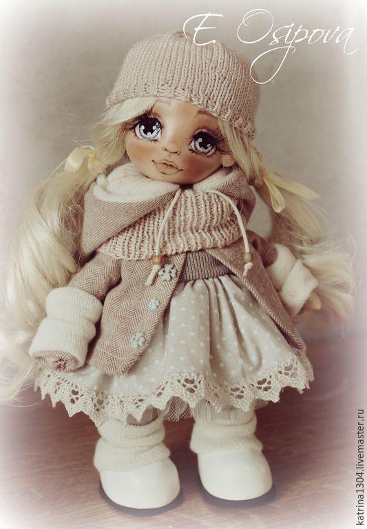 Купить Марта - бежевый, авторская ручная работа, кукла ручной работы, кукла, авторская кукла