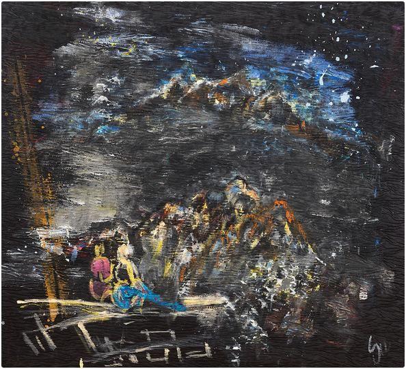 Çingeneler, 150x150 cm, Karışık malzeme, 2006 - Su YUCEL