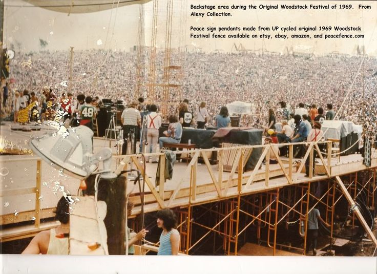Woodstock stage 1969 | Back view of stage at the original woodstock festival in 1969 photo ...