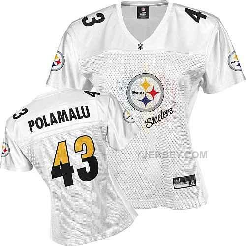 hot sale online 844f2 c5565 pittsburgh steelers 43 troy polamalu 2011 pink stitched ...