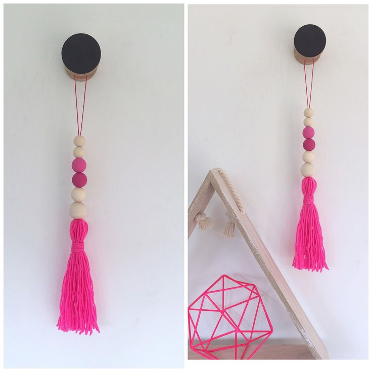 A personal favourite from my Etsy shop https://www.etsy.com/au/listing/248127640/hot-pink-girls-room-boho-hanging-long
