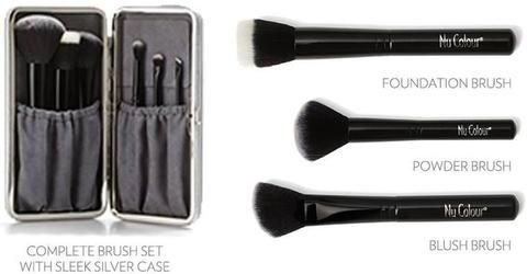 Professional Makeup Brushes Set with Brush Case: You Save & Free Delivery