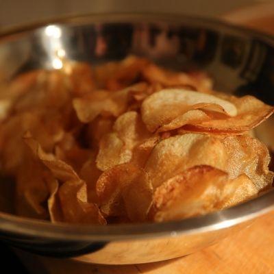 Hausgemachte Kartoffelchips